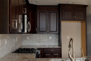 Residential Finished Kitchen Cabinets & Stove